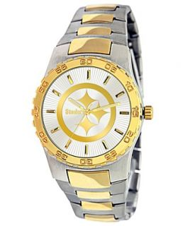 Game Time Watch, Mens Pittsburgh Steelers Two Tone Stainless Steel