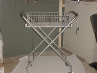 Metal Industrial Cart w Removeable Wire Basket Office Mail Cart