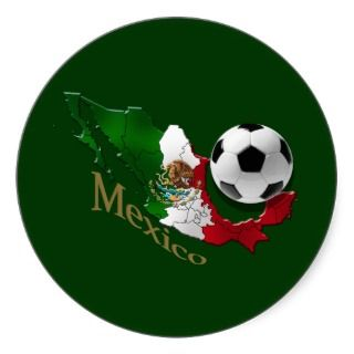 Mexico Flag Map Soccer fans Futbol gifts Stickers
