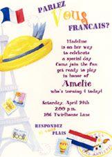 Paris Madeline Ooh La La Birthday Party Invitation 5x7