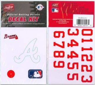MLB Batting Helmet Logo Decal Kit w Numbers All 30 Major League