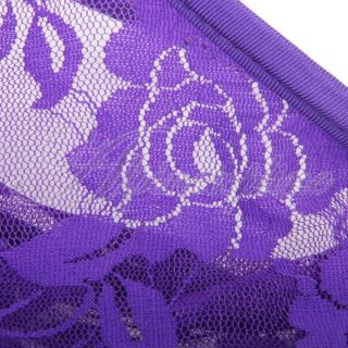 Sexy Mens Lace C String Thong Underwear Panty Purple