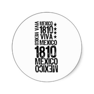 viva mexico round sticker