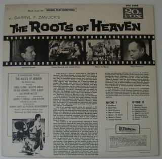 The Roots of Heaven Malcolm Arnold Orig 20th Century Fox Soundtrack LP