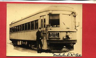 S588 RP 1920s Merry Christmas Malcolm D McCarter IRR Indiana Railroad