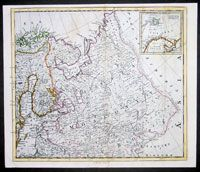 1766 D Anville Antique Map of Russia Estonia Latvia