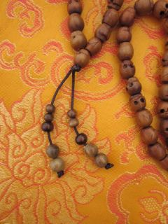 Wrathful Hand Carved Wood Skull Bead Tibetan Buddhist Mala