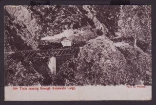 Steam Train Manawatu Gorge N Zealand c1905 1D Postage Stamp Palmerston