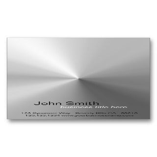 Brushed Metal Design Vertical Card Business Cards