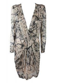 By Malene Birger Womens Prinsiepa Paint Splatter Silk Print Dress $425