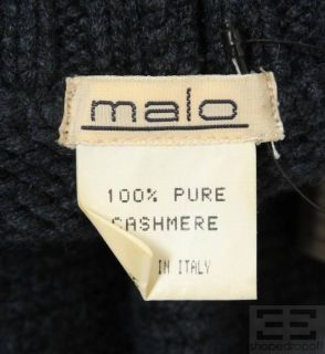 Malo Dark Blue Cashmere Turtleneck Sweater Size M