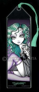 Green Tattoo Angel Fairy Fantasy Art Bookmark Malory