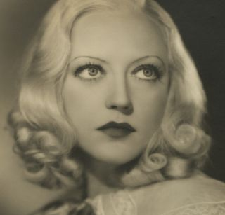 Marion Davies 30s Sepia James Manatt Large Format Sultry Photograph