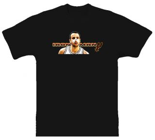 Manu Ginobili San Antonio Spurs Iron Man Black T Shirt
