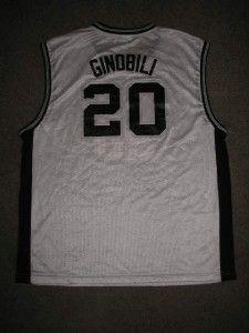 Manu Ginobili 20 Spurs NBA Basketball Jersey Adult 2XL