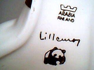 Finland Pottery Ceramic Panda Bear by Lillemor Mannerheim Klingspor