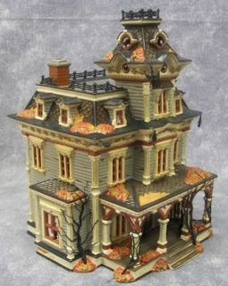 Original Snow Village Grimsly Manor House Spooky Working 55004