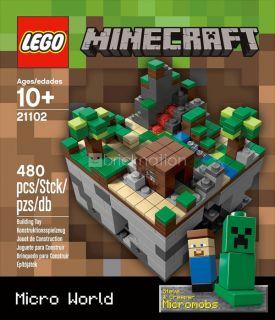 Lego 21102 Minecraft Micro World Steve Creeper Overworld Cuusoo Jinx