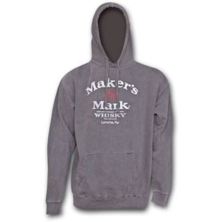 Makers Mark Hooded sweat Shirt Grey