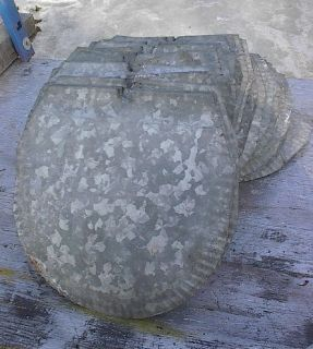 72 Maple Syrup Sap Bucket Galvanized Metal Covers Lids Ready to Use