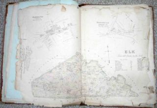 1800S Antique Breous Farm Maps Atlas Chester County PA