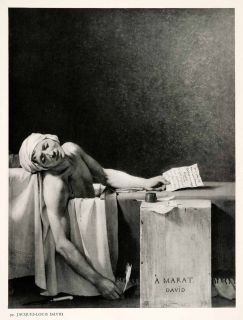 1951 Photogravure Death Jean Paul Marat Assassine Jacques Louis David