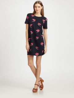 Marc by Marc Jacobs Night Bird Print Shift Dress Size S