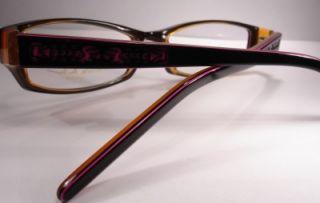 Nicole Miller Brasilia Black Rose Eyeglasses Women Frames New