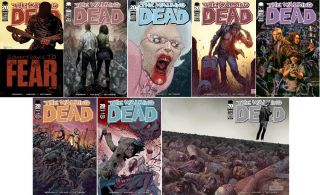 piece set. The Walking Dead #100 8 cover set including one each of