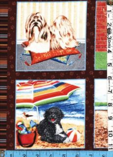 Fabric Marcus A Dogs Life Postcards Monthly Calendar Dogs 13 Images