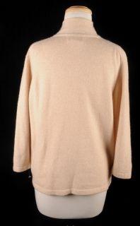 Cashmere Blend Blush Neck Tie Sweater XL