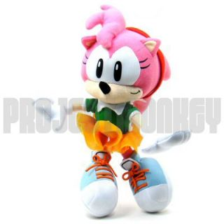 Hedgehog Amy Rose Plush Doll Sega Anime Genuine Officially Licensed