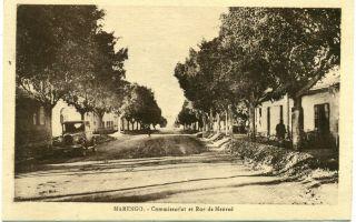 1920s Marengo Algeria Police Station on Meurad Street Scene Postcard