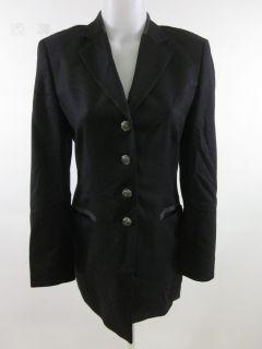 ESCADA Margaretha Ley Black Long Sleeve Blazer Coat 36