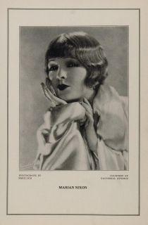 1927 Silent Film Star Marian Nixon Universal Print Original