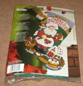Plaid Bucilla Santas Sweet Shop Felt Stocking Kit 18 New in Package
