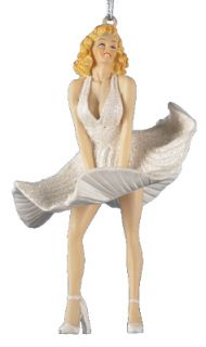 Marilyn Monroe White Dress Figural Holiday Christmas Ornament