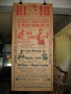 1945 Carlos Miranda vs Hugolin Catzin Vintage on Site Boxing Poster