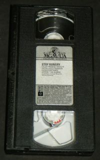 STAY HUNGRY VHS, MGM 1976   Jeff Bridges, Sally Field, Arnold