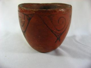 Old Maricopa Pottery Indian Native American Bowl w Great Design