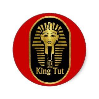 King Tut Round Sticker