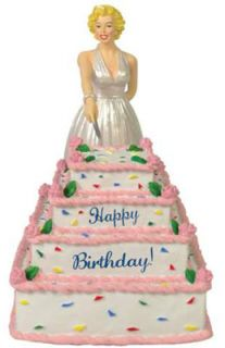 Marilyn Monroe Musical Happy Birthday Cake Figurine