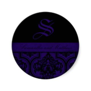 Gothic Romance Monogram Sticker C