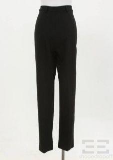Marina Rinaldi Black Wool Straight Leg Trouser Pants Size 21