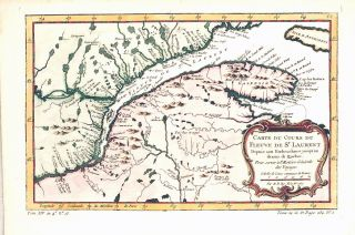 Antique Map St Lawrence River Canada Bellin 1757
