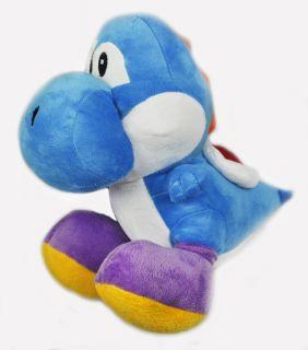Super Mario Yoshi Plush Soft Toy Doll Blue 12 Sit
