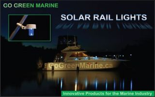 Solar Powered Marine Boat Light Rail Mounted New