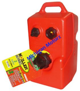 Marine Above Deck 3 Gallon Portable Topside Gas Tank w Handle 620003LP