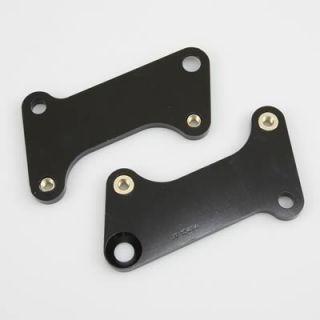 Disc Brakes Brake Caliper Mounting Brackets Aluminum Black E coat Pair