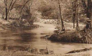 XA953 RPPC St James MO Maramec Springs 1924 Hiker Girl